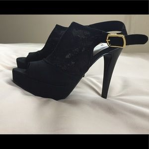 Guess Platform Slingback Heels - black 5.5